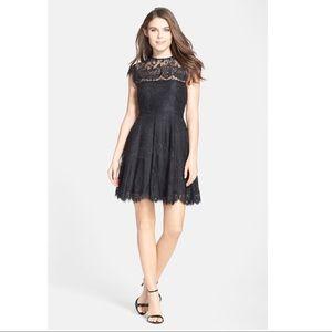 BB Dakota Open Back Lace Fit&Flare Cocktail Dress